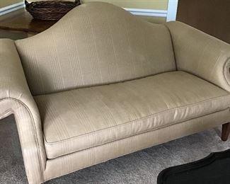 """Ethan Allen Goldish Couch 70"""" x 32"""" deep"""