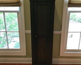 "Tall Green Wooden Cabinet 5' x 17"""