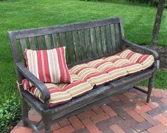Teak Wood Bench - one of two
