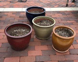 FOUR Large Planter Pots