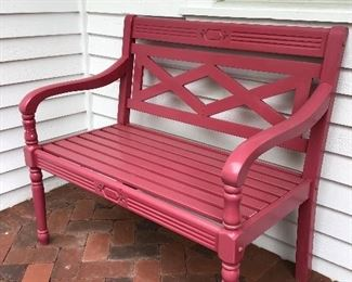Pink Bench from Grandin Road