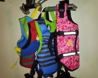 Life vests. Lots of adult sizes too