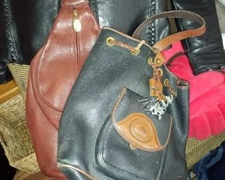 2 leather purses