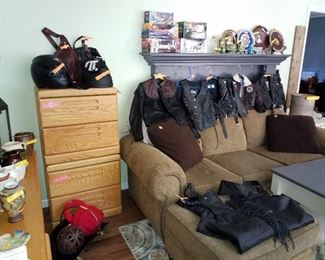 Leather chaps, womans leather jacket and kids leather jackets