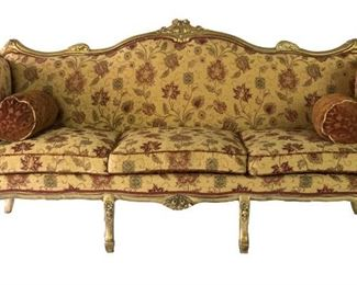 Amazing burgundy Gold French sofa