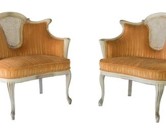 Orange french chairs