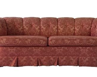 Pink Hollywood Regency Sofa