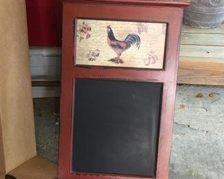 Rooster blackboard