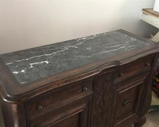 Dark green marble top