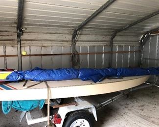 13.5 ft Alcort Sunfish with trailer. Seaworthy & ready for summer fun!