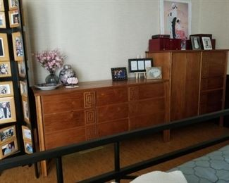 Mid-Century modern dresser and highboy - two separate pieces.