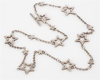 3: Tiffany & Co. Sterling Toggle Clasp Star Link Necklace