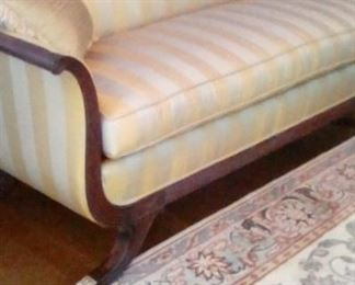 Duncan Phyfe sofa made in early 1950's with goose down cushion in mint condition!
