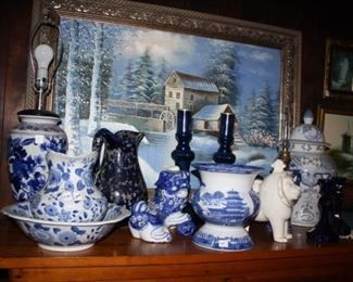 There is enough blue here to have an entire room dedicated to blue items.  Prices are designed to sell  on the first day of the sale.  Thursday, June 20, from 4 PM until 7PM.  Please note the time.