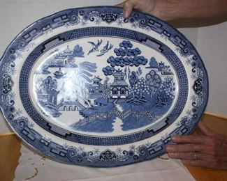 Probably the best of the best.  Blue Willow pattern, dated to around 1850 or thereabouts.  V ery good condition-we couldn't find any chips or marks.  Average price we found on-line was $650.  Will be less than half that at the sale.