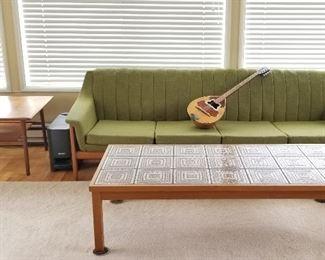 Rare Westnofa sofa (Norway) in Kermit green, very good condition !