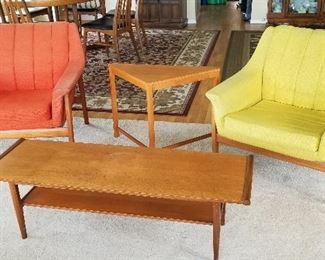 Westnofa chairs and MCM coffee and end tables (Sweden)