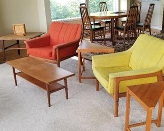 Rare Westnofa (Norway) MCM chairs and matching sofa.