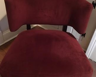 Red shoulder backed chair
