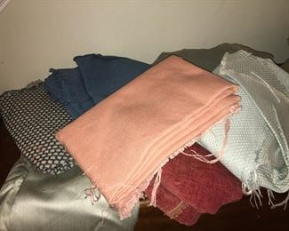 Assorted fabrics, mostly upholstery weight