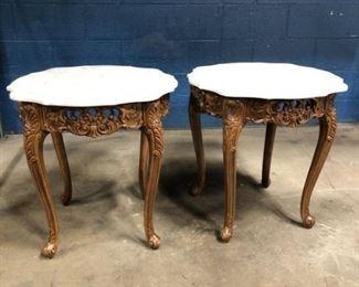 Vintage marble top tables