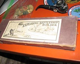 Antique Battleship Toy