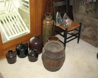 Grand Rapids Beer Keg, Brass Fire Ext., Jugs