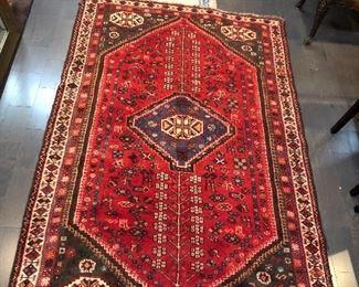 Tribal Geometric Shiraz Wool Oriental Rug