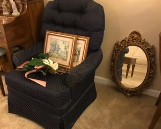 Blue Recliner, Gesso Mirror