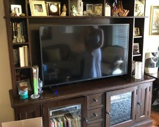 Entertainment center and Large Flat Screen TV