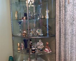 Another large corner display case-lighted
