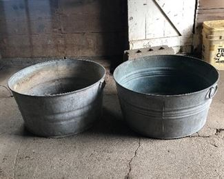 Wash tubs.