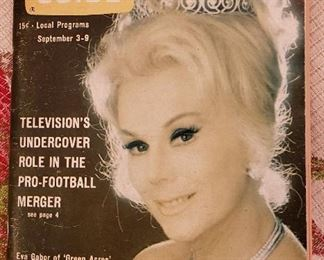 Sept. 1966 Issue of TV Guide with Eva Gabor on the Cover - from the Collection of Ms. Gabor.
