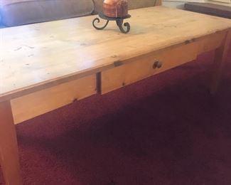 pine coffee table w/drawer