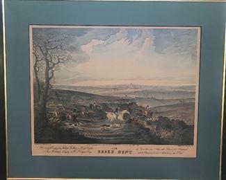 Vintage English Hunt Prints large/3