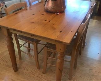 country style pine  table great for smaller area
