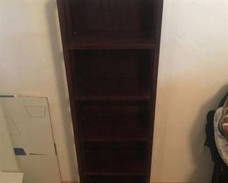 several bookshelves
