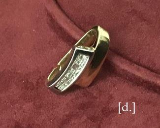 14 Kt gold & diamond pendant