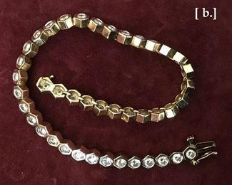 Tennis Bracelet--gold and diamonds