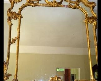 Huge Hollywood Regency gilt mirror