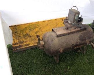 Tractor blade; 50's steel tank