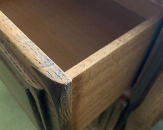 #23 drawer desk w/black slate look top  44x17x30 $40.00
