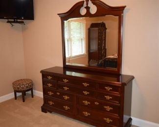 Bassett Cherry Dresser with Mirror
