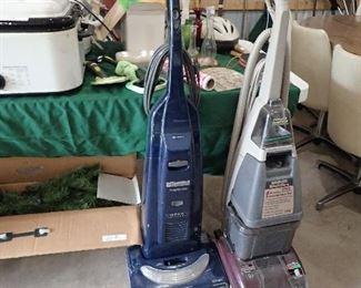 Artificial Christmas Tree. Vacuum. Shampooer.