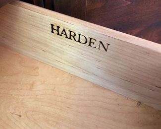 Inside of Drawer of Harden China Hutch