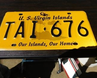 Virgin Island License Plate