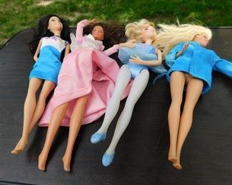 Lots of Barbie Dolls