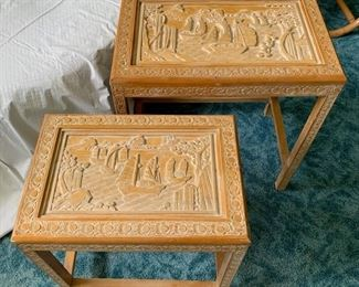 Vintage Asian Side Tables