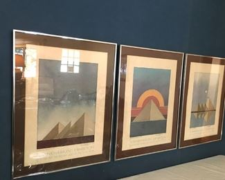 Signed lithographs from Seattle King Tut exhibit, 1978