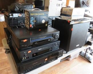 Electronics, receivers, speakers, DVD players and more!
